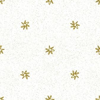 Ручной обращается снежинки рождество бесшовные модели. тонкие летающие хлопья снега на фоне снежинок мела. изумительный снег, нарисованный от руки мелом. величественное украшение курортного сезона.