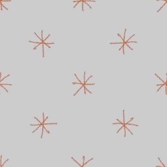 Ручной обращается снежинки рождество бесшовные модели. тонкие летающие хлопья снега на фоне снежинок мела. художественный мел handdrawn снег наложения. приятное украшение праздничного сезона.