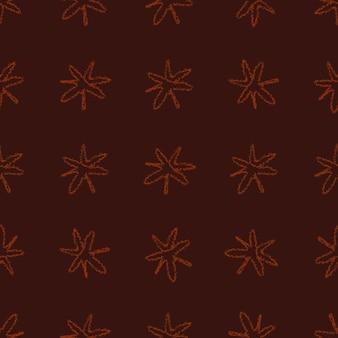 Ручной обращается снежинки рождество бесшовные модели. тонкие летящие хлопья снега на фоне снежинок мела. привлекательный мел, нарисованный вручную снегом. очаровательное украшение праздничного сезона.