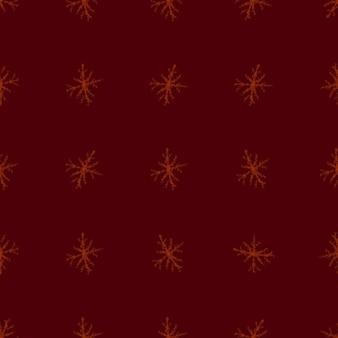 Ручной обращается снежинки рождество бесшовные модели. тонкие летающие хлопья снега на фоне снежинок мела. привлекательный рисунок снега, нарисованный от руки мелом. красивое украшение праздничного сезона.