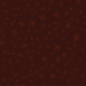 Ручной обращается снежинки рождество бесшовные модели. тонкие летающие хлопья снега на фоне снежинок мела. привлекательный рисунок снега, нарисованный от руки мелом. захватывающее украшение праздничного сезона.