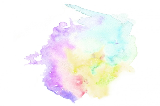 Hand drawn watercolor shape in cold tones for your design