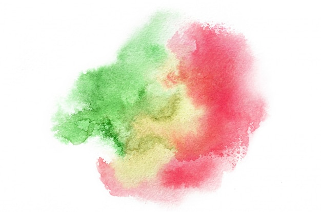 Hand drawn watercolor shape in warm tones for your design. creative painted background, hand made decoration