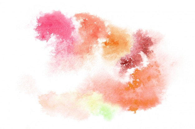 Hand drawn watercolor shape in warm tones for your design