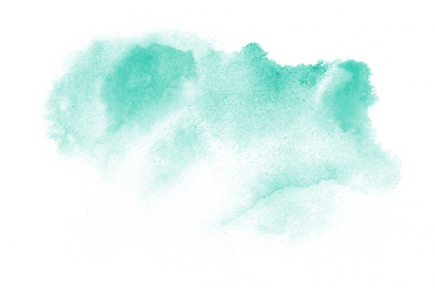 Hand drawn watercolor shape in warm tones