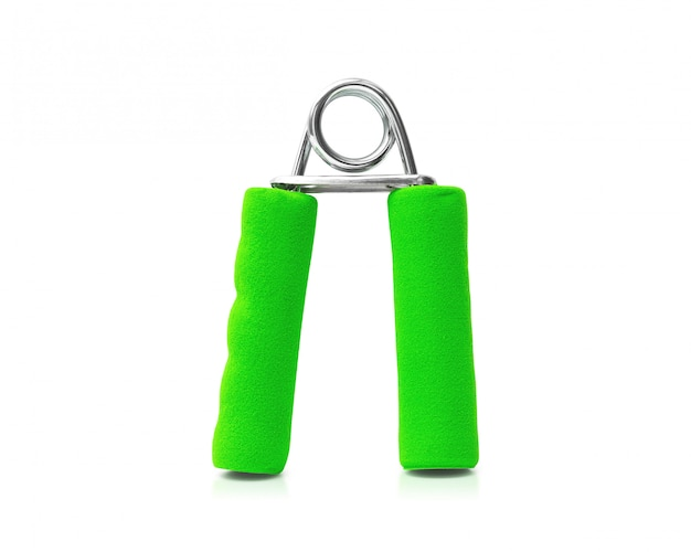 Hand grip isolated on white background. grip strength for exercise.