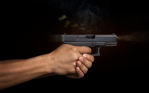 Hand gun automatic pistole