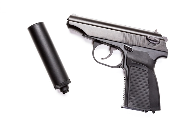 Ручной пистолет изолирован