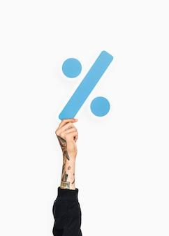 Рука с меткой деления