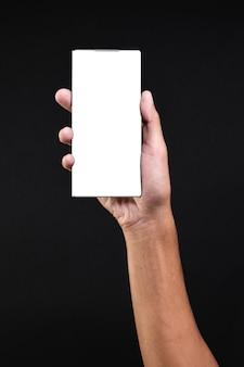 革新的なスマートフォンを持っている手