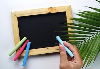 Hand Holding Chalk