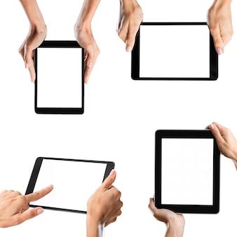 Iphone4を垂直に持っている手
