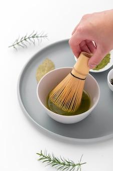 Frusta in bambù matcha a mano