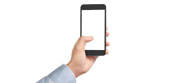 Рука смартфон и сенсорный экран
