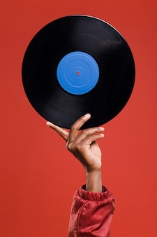 Hand holding vinyl