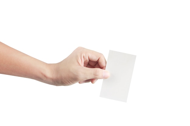 Hand holding  virtual card with your