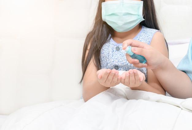 武漢コロナウイルスを保護するためのハンドキッドプレスアルコールスプレー