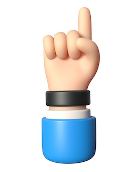 Hand like it3d illustration of gesture okay thumbs up on a white background
