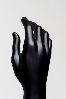 흰색에 남성 블랙 마네킹의 손