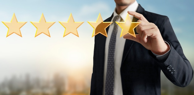 感動の手は、5つ星を増やします。評価の評価を上げる