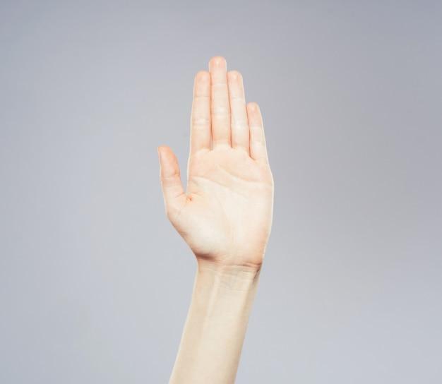 여자의 손