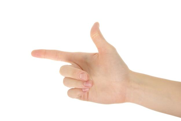 """Рука на ñ """"белом фоне"""