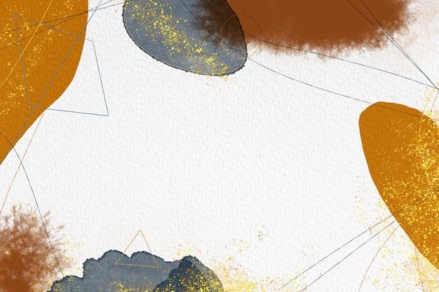 手绘抽象的水彩背景在纸的纹理