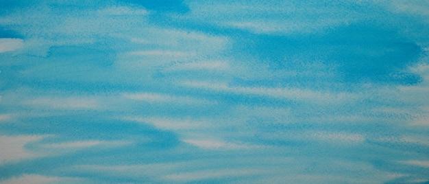 Ручная роспись аква морской синий и белый цвет текстуры акварель абстрактный окрашенный фон