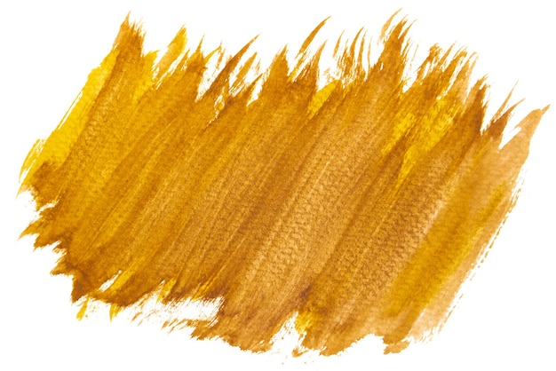 Hand-painted brown and yellow watercolor