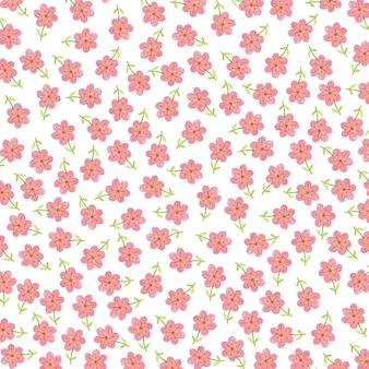 手描きの葉のパターン画像