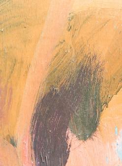 木に塗られた手