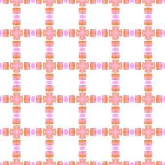 Hand painted tiled watercolor border. orange glamorous boho chic summer design. textile ready powerful print, swimwear fabric, wallpaper, wrapping. tiled watercolor background.