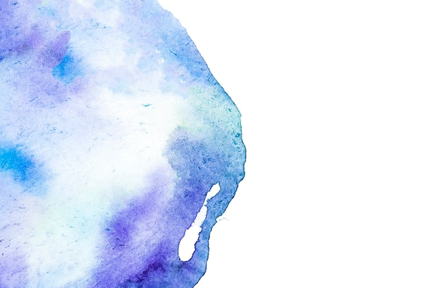 Hand painted watercolor stain on white background