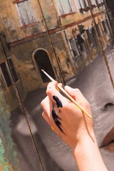 Ручная роспись на холсте