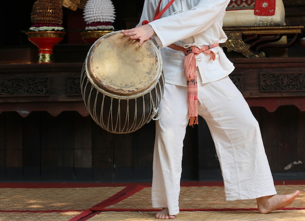 Hand play drum, thai style