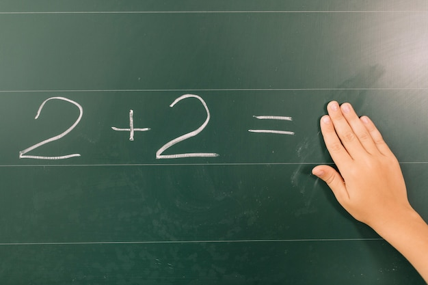 Mano di allievo nella classe di matematica