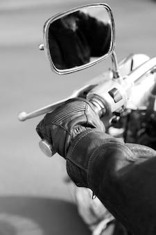 ハンドルバーのハンドライダー、クローズアップ