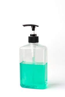 分離された手指消毒剤ゲルポンプボトル。