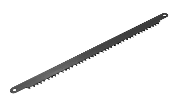 Hand saw blade isolated on white