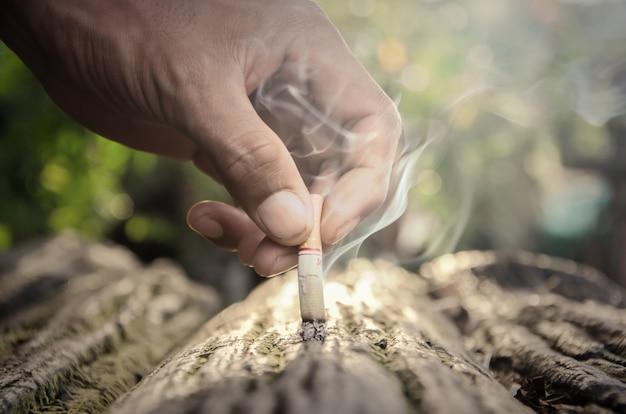 Hand smoking
