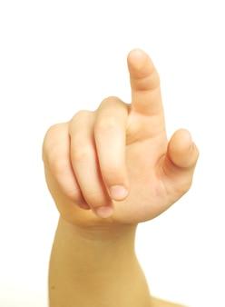흰색 절연 손 터치 스크린