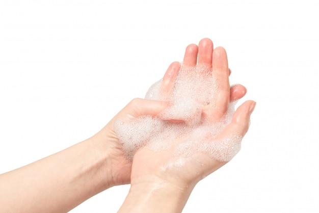 白で隔離される手洗い