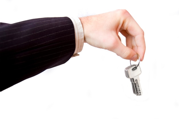 Hand with a keys