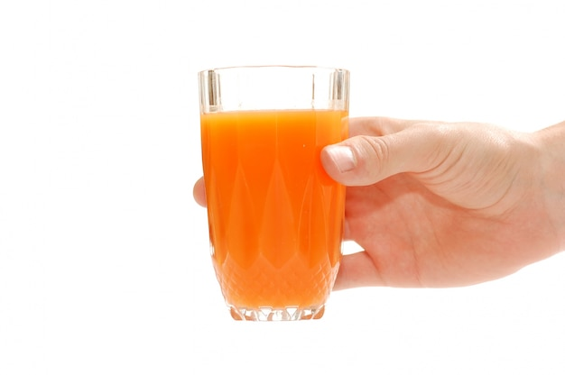 オレンジジュースとハンド