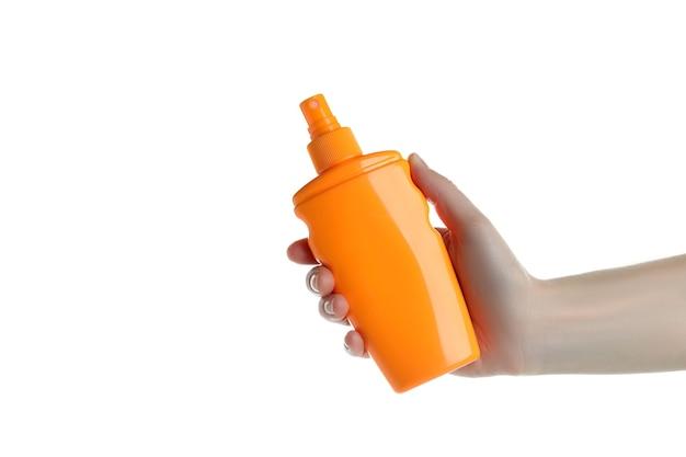 자외선 차단제, 흰색 절연 손