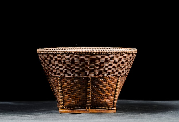 Hand woven bowl from northern thailand