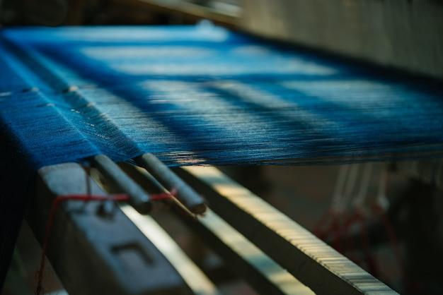Hand-woven work.  weaving work.