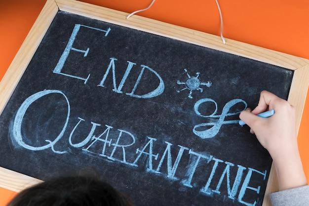 Hand writing on a chalkboard