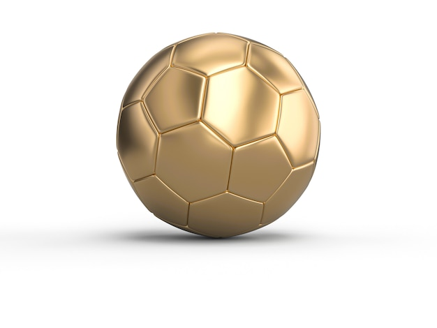 Handball gold ball on white