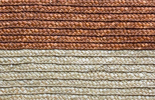 Handcraft rattan woven texture background